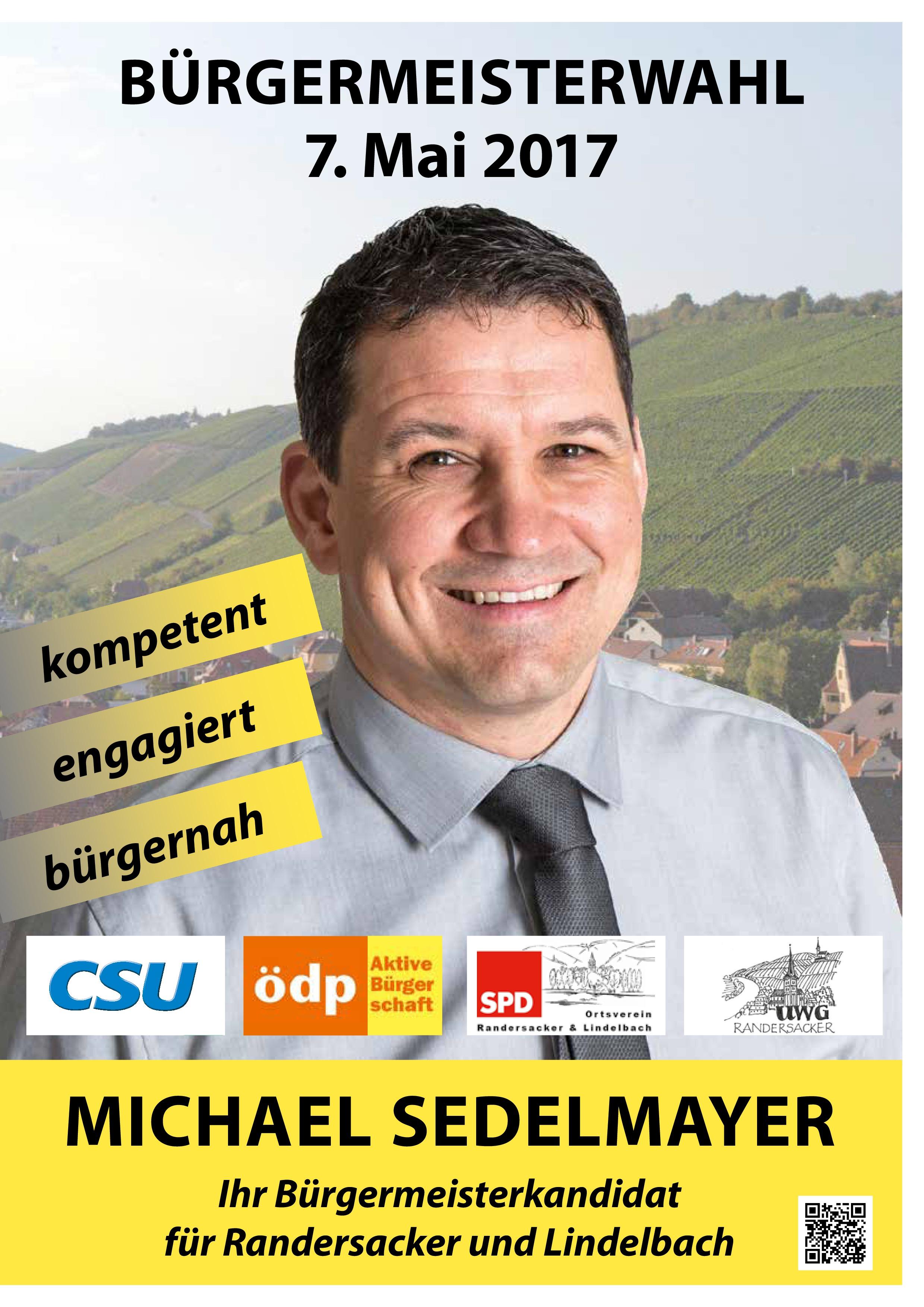 Michael Sedelmayer ist unser Bürgermeister für Randersacker