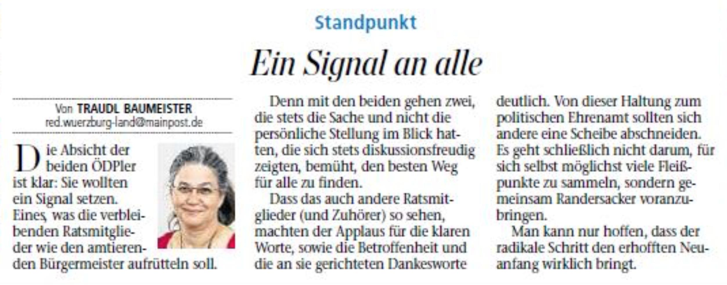 """Matthias Henneberger - Unser Anliegen ist unsere Heimatgemeinde Randersacker. Sehr gerne haben wir uns dafür eingesetzt und selbstverständlich werden wir dies auch weiter tun, weil Randersacker nun mal """"alternativlos"""" ist."""
