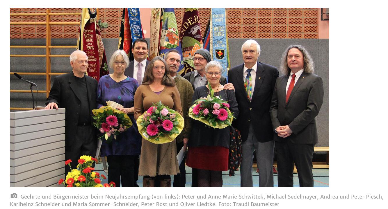 Artikel der MainPost zur Verleihung der Bürgermedaille an Karl-Heinz Schneider