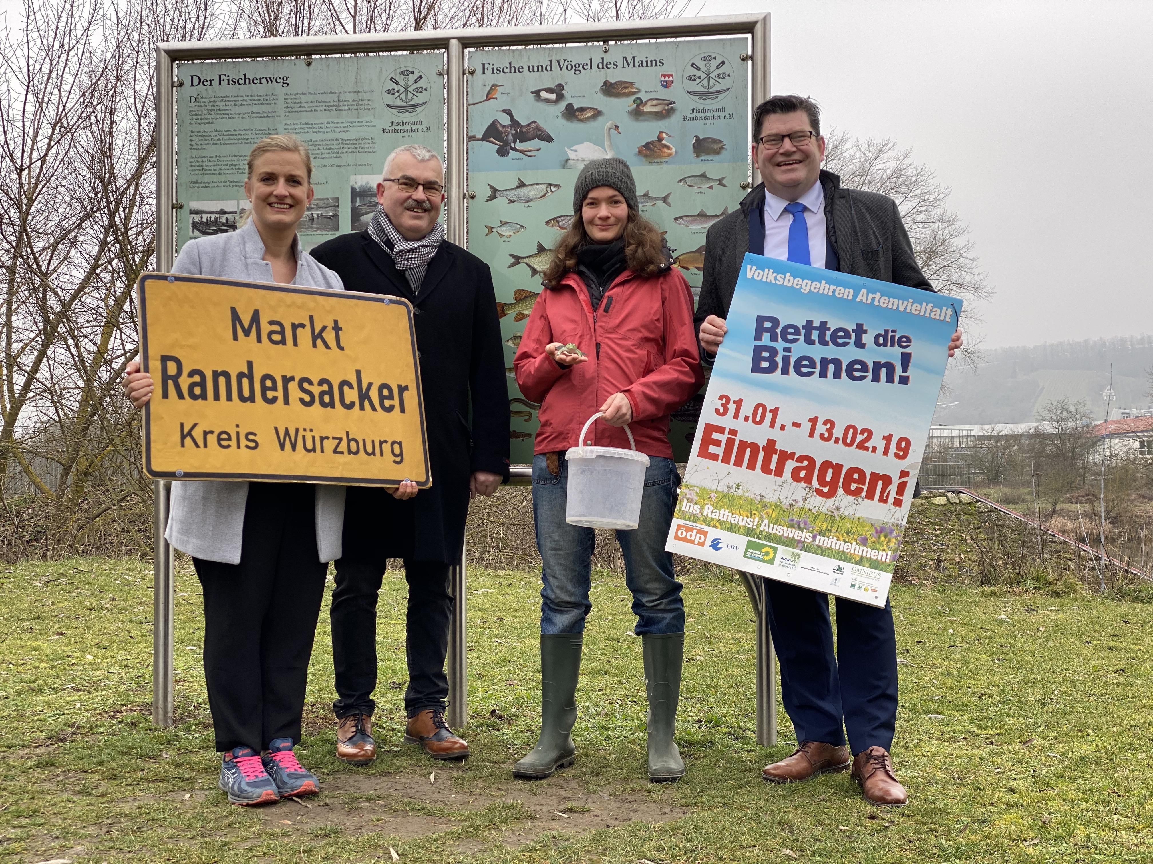 Marlis Meyer steht für praktizierten Artenschutz in Randersacker