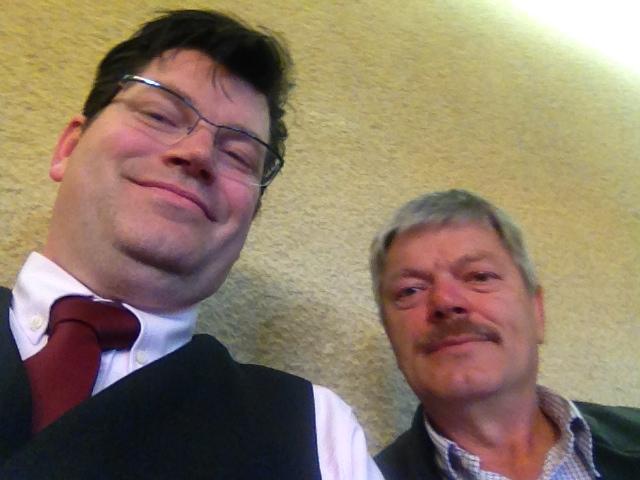Matthias Henneberger und Otto Schenk bilden in der neuen Wahlperiode 2014 bis 2020 die Fraktion