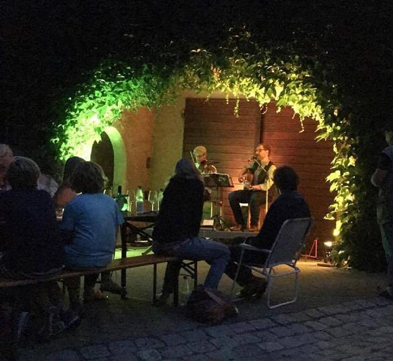 Romantisches Konzert im Zehnthof - Schon zum sechsten Mal ein Konzert im Sommer-Ferien-Programm von der ödp präsentiert