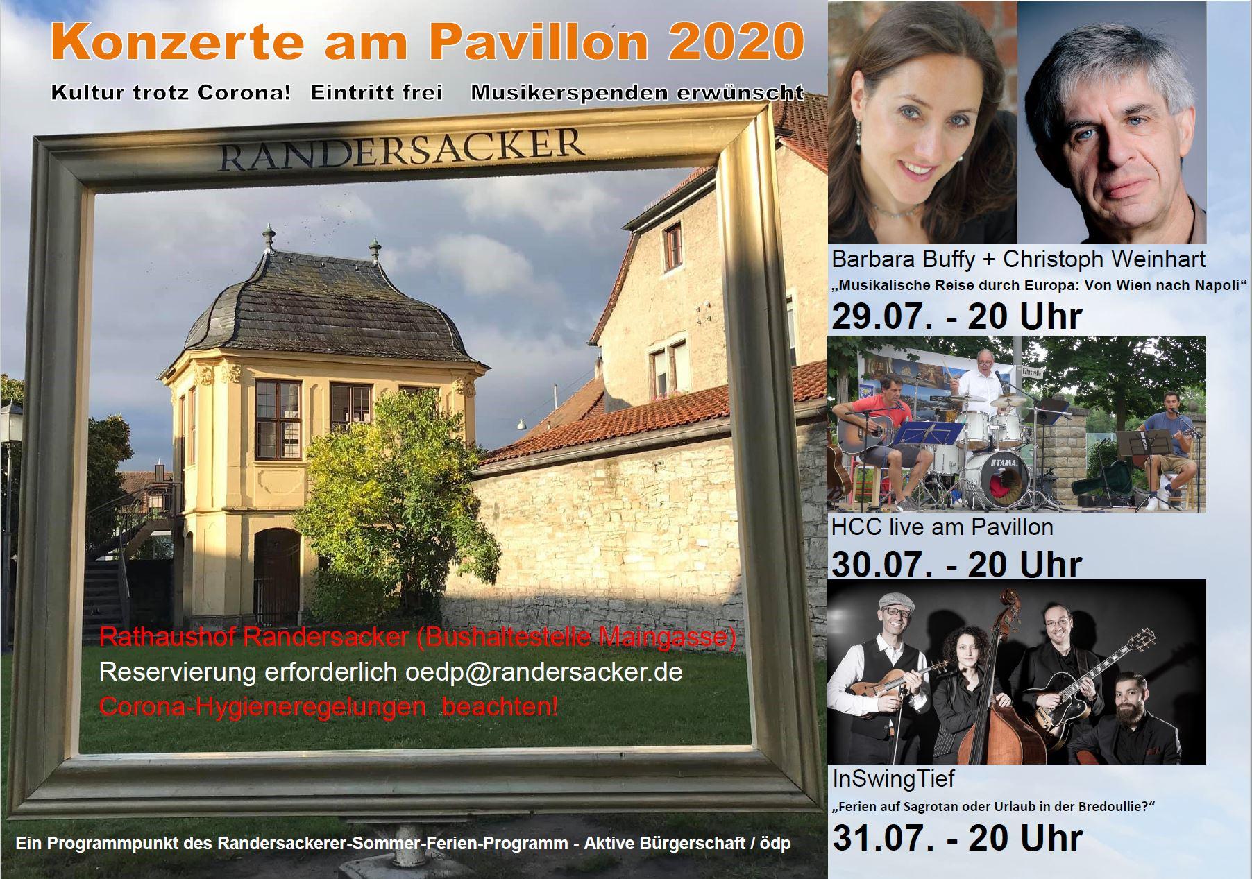 Konzerte am Pavillon 2020 - Barbara Buffy, HCC und Inswingtief
