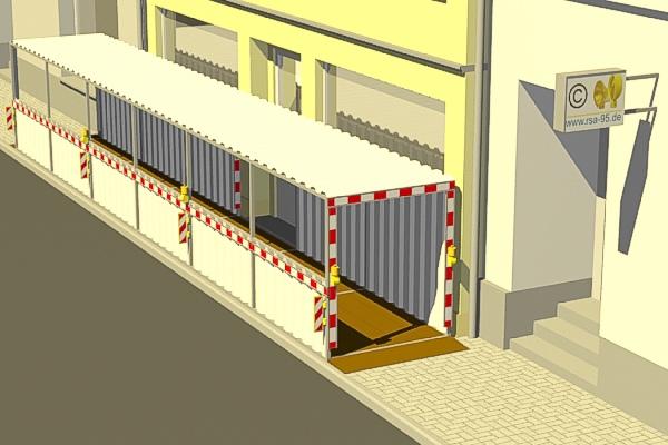 Ein Fußgängertunnel als Durchgang zum Mainparkplatz
