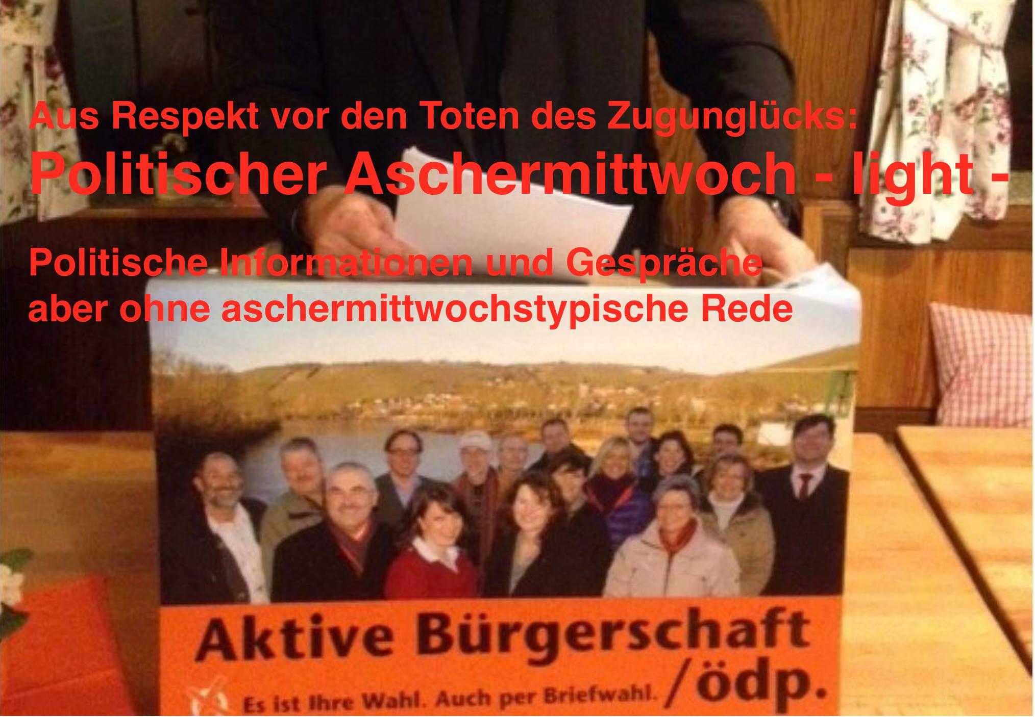 Politischer Aschermittwoch mit Matthias Henneberger - dieses Jahr