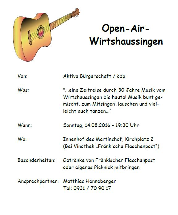Open Air Wirtshaussingen 2016