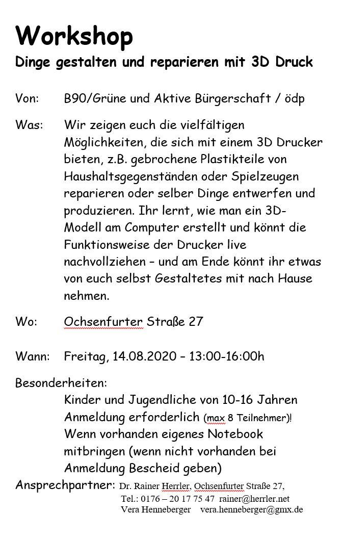 Workshop Digitaldruck