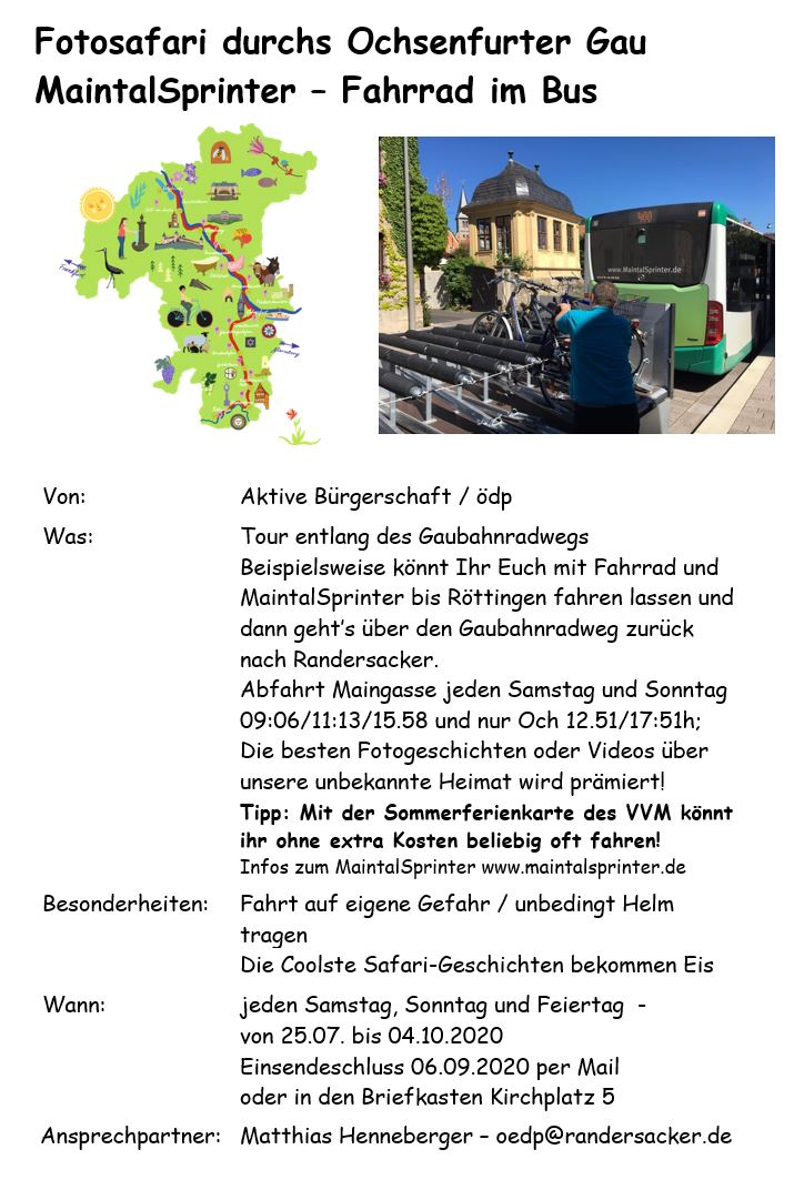 Fotosafari MaintalSprinter Gaubahnradweg